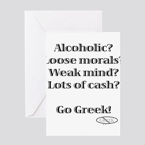 Go Greek! Greeting Card