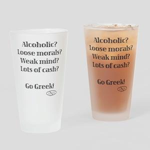 Go Greek! Drinking Glass