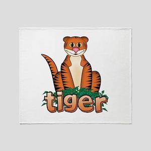 Cartoon Tiger Throw Blanket