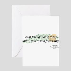 Cheap Friends Greeting Card
