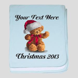 Christmas Teddy baby blanket
