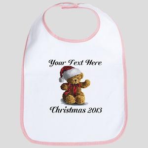 Christmas Teddy Bib
