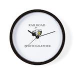 Railroad Photographer Wall Clock