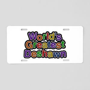 World's Greatest Deshawn Aluminum License Plate