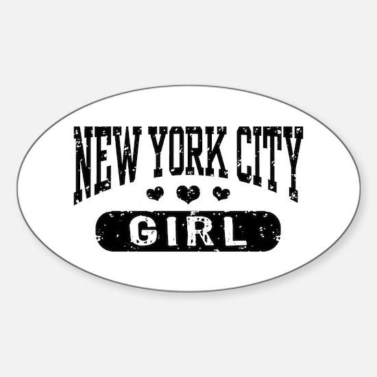 New York City Girl Sticker (Oval)