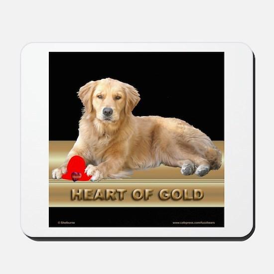 Golden Retriever Mousepad Gold/Black