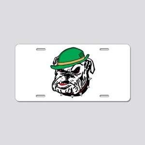 Irish Bulldog Aluminum License Plate