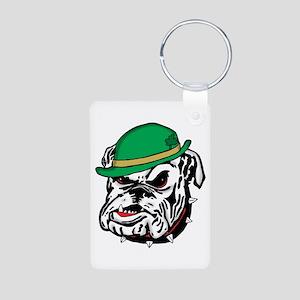 Irish Bulldog Aluminum Photo Keychain