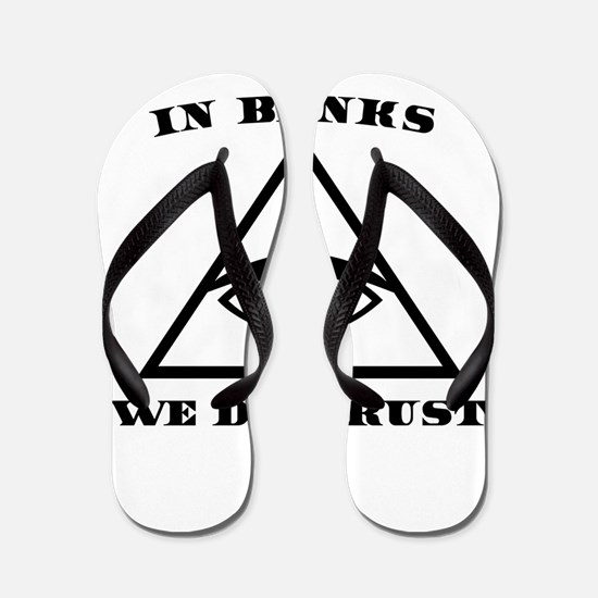 In Banks We Distrust (Bitcoin Design) Flip Flops
