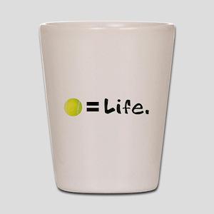 Tennis Ball = Life Shot Glass