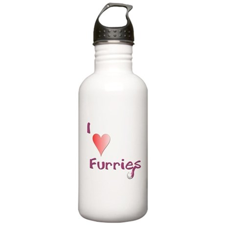 I love Furries! - Red Stainless Water Bottle 1.0L
