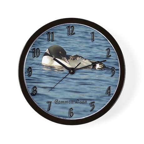 Loon preening Wall Clock