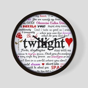 Twilight Quotes Wall Clock