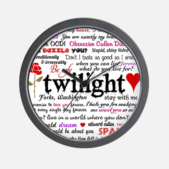 Twilight Quotes Wall Clock