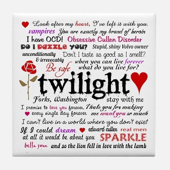 Twilight Quotes Tile Coaster