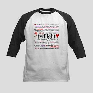 Twilight Quotes Kids Baseball Jersey