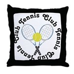 Tennis Club Throw Pillow