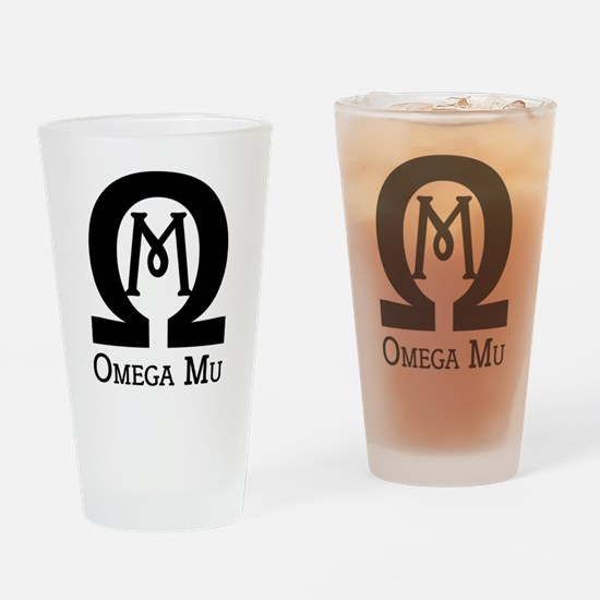 Omega MU - Black - Drinking Glass