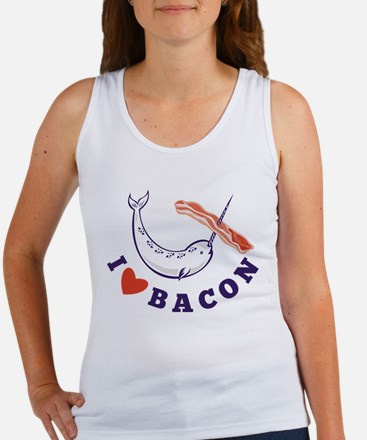 narwhal whale bacon Women's Tank Top