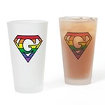 Super Gay! Outlined Drinking Glass