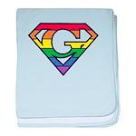 Super Gay! Outlined baby blanket