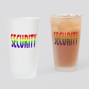 Security - Gay Pride Drinking Glass