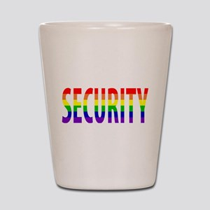 Security - Gay Pride Shot Glass