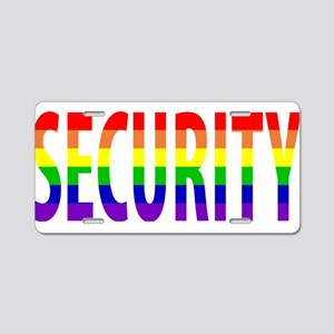 Security - Gay Pride Aluminum License Plate