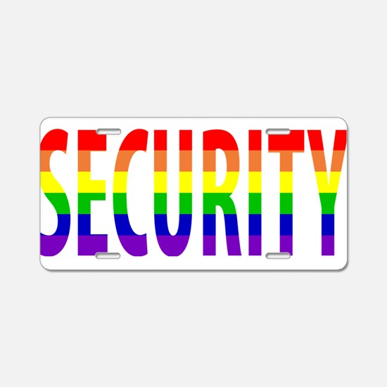 Security - Gay Pride Aluminum License Plate
