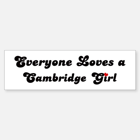 Loves Cambridge Girl Bumper Bumper Bumper Sticker
