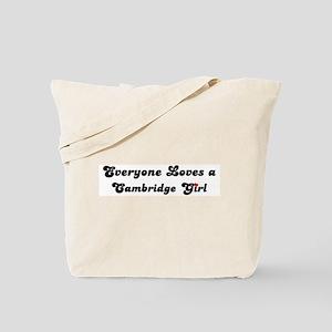 Loves Cambridge Girl Tote Bag