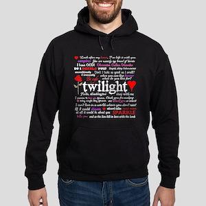 Twilight Quotes Hoodie (dark)