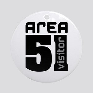 Area 51 Alien Visitor Ornament (Round)