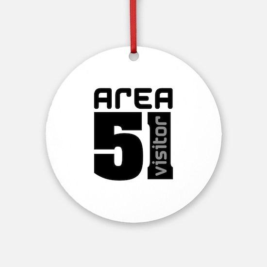 Area 51 Alien Visitor Ornament (Round)