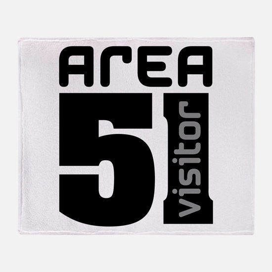 Area 51 Alien Visitor Throw Blanket