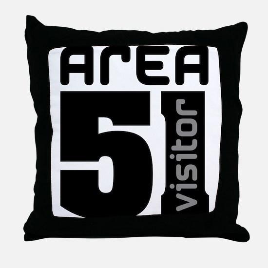 Area 51 Alien Visitor Throw Pillow
