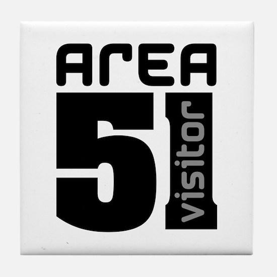Area 51 Alien Visitor Tile Coaster