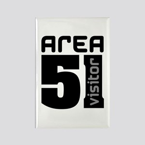 Area 51 Alien Visitor Rectangle Magnet