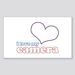 I Love My Camera Sticker (Rectangle)