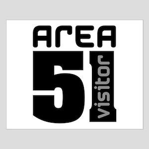 Area 51 Alien Visitor Small Poster