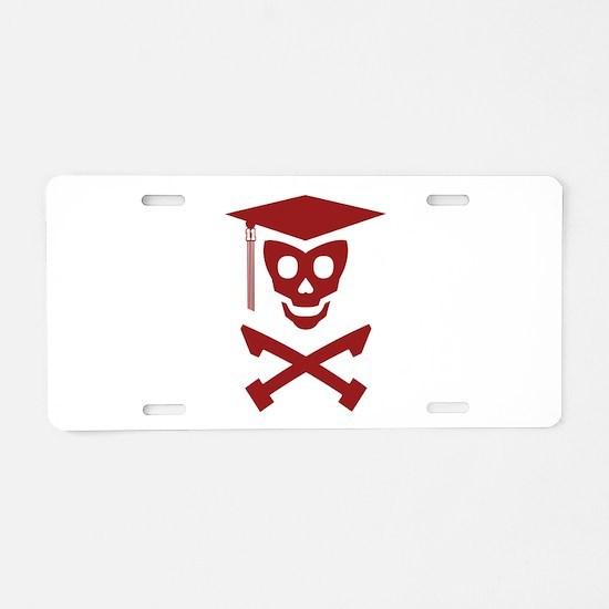 Grad Class Skully Aluminum License Plate