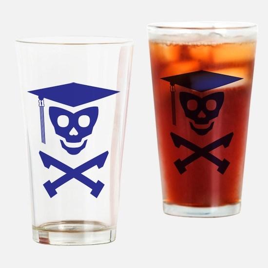 Grad Class Skully Drinking Glass