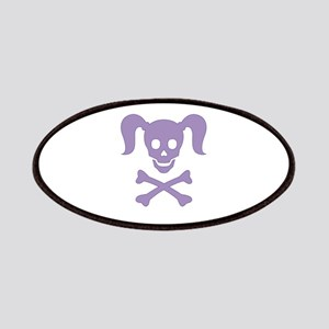Curly Girlie Skull Patches