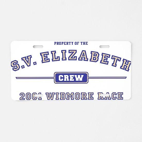 SV Elizabeth Crew Aluminum License Plate