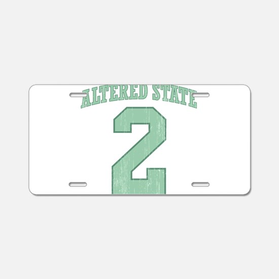 Altered State Aluminum License Plate