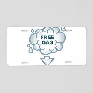 Fuel Crisis Solved; Free Gas Aluminum License Plat