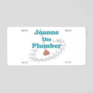 Joanne the Plumber Aluminum License Plate