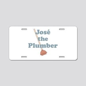 Jose the Plumber Aluminum License Plate
