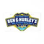 Ben & Hurley's Spring Water Aluminum License P