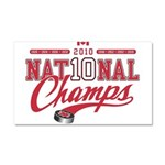 2010 National Champs Car Magnet 20 x 12